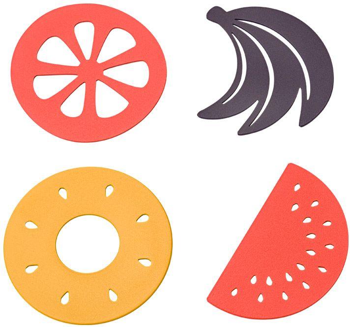 סט 4 תחתיות פירות