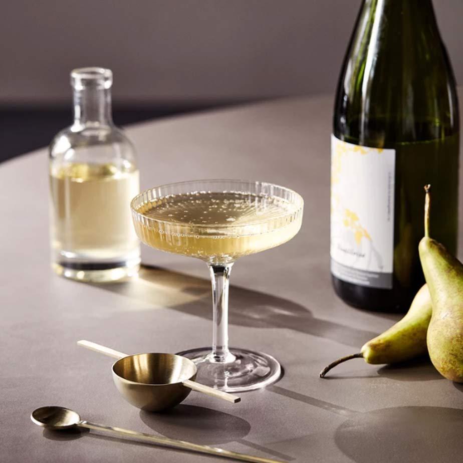 זוג כוסות שמפנייה RIPPLE