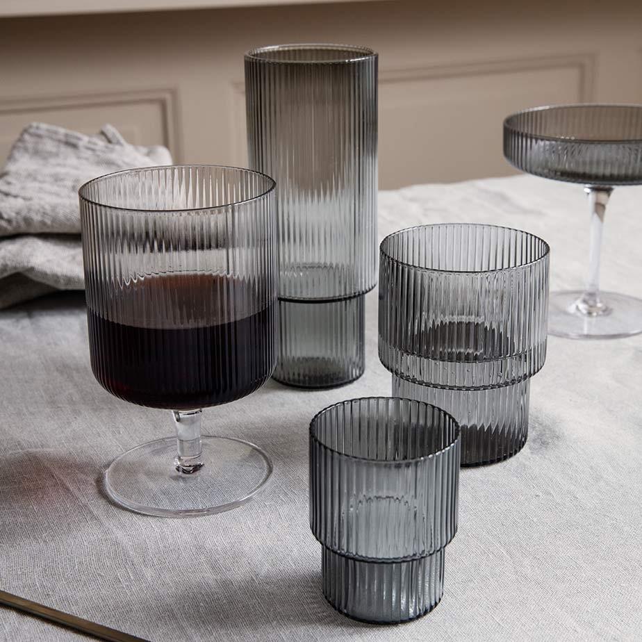 זוג כוסות יין RIPPLE