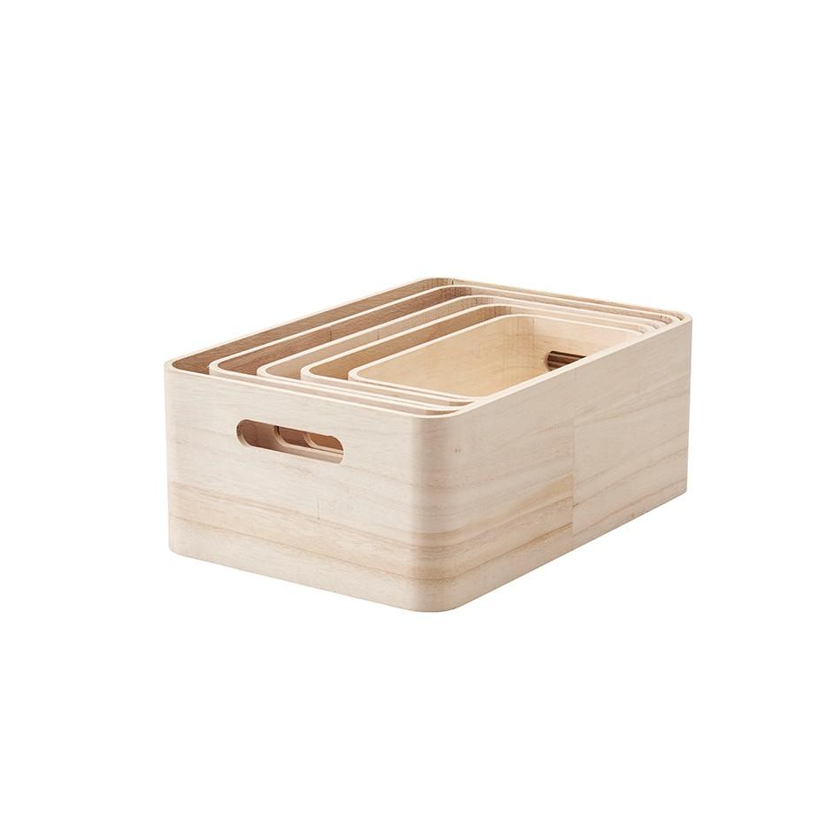 סט 5 ארגזים מעץ SAVE IT