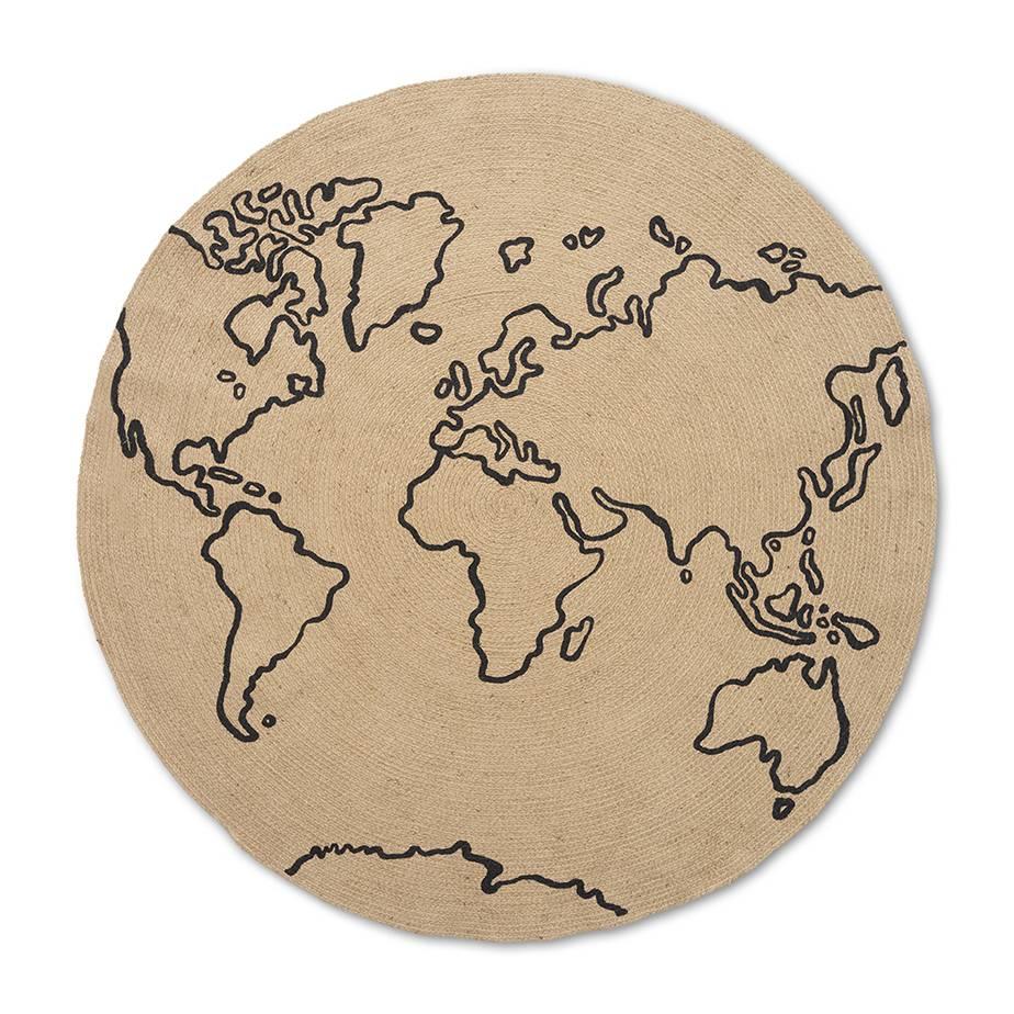 שטיח עגול WORLD JUTE
