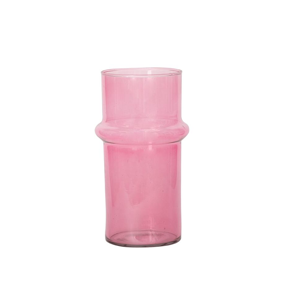 אגרטל PINK GLASS