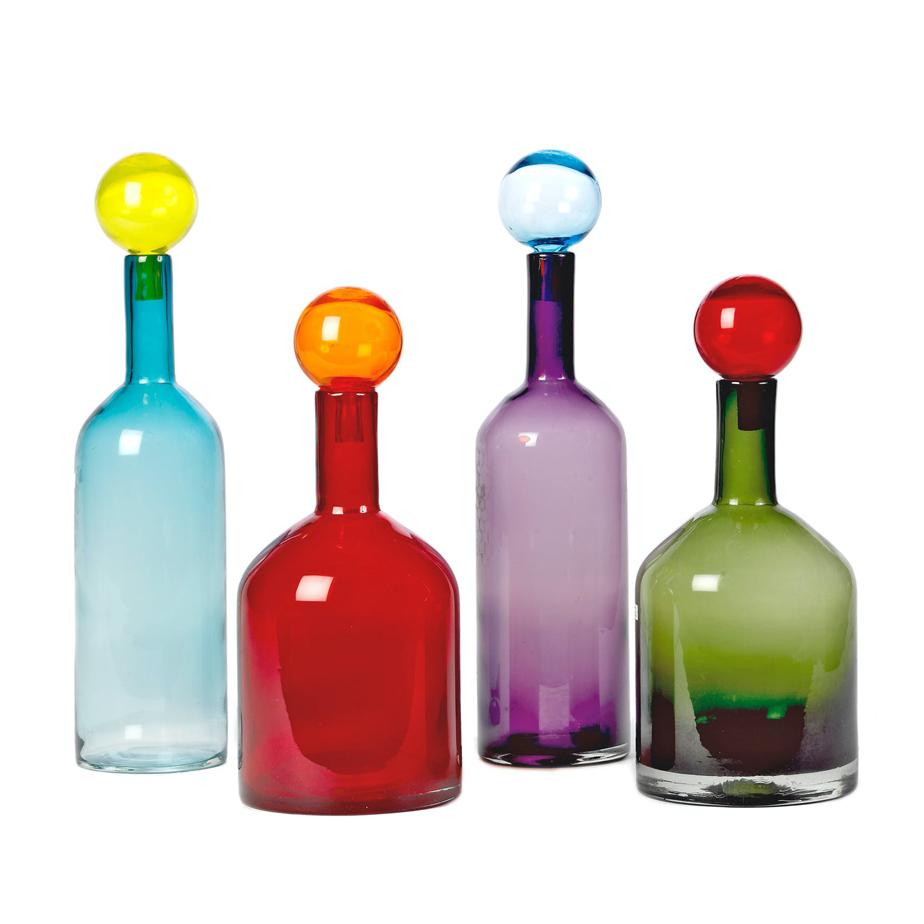 סט 4 בקבוקי זכוכית BUBBLE MIX