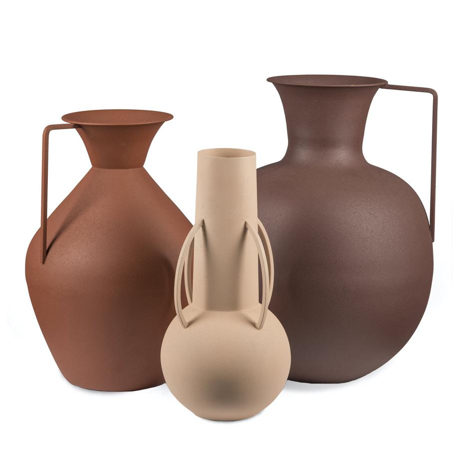 סט 3 אגרטלים ROMAN BROWN SOIL