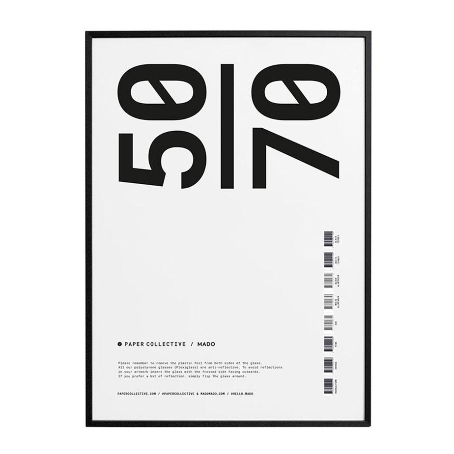 מסגרת עץ שחורה 50X70