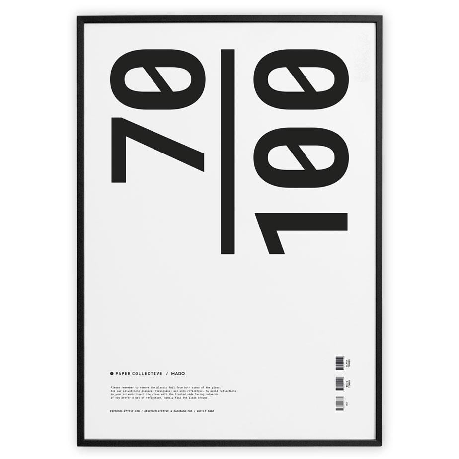 מסגרת עץ שחורה 70X100