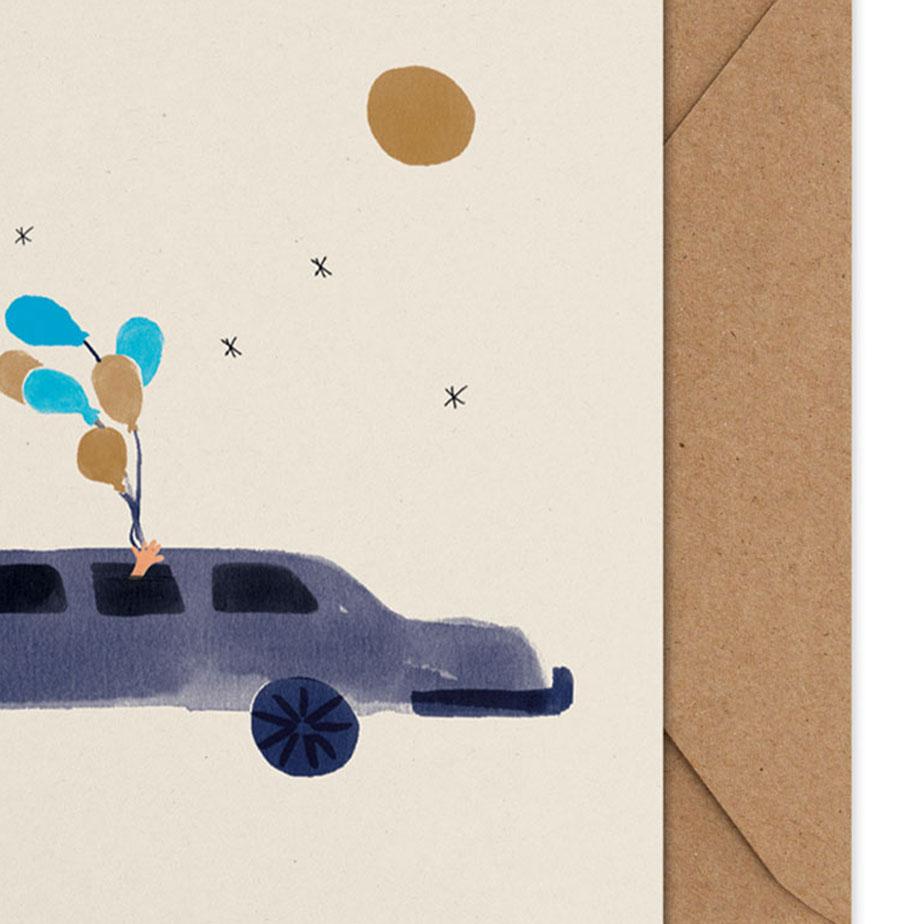 כרטיס ברכה LOULOU IN THE LIMO