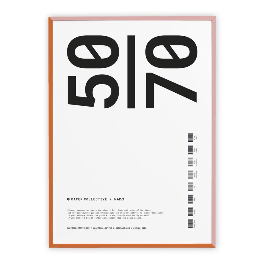 מסגרת עץ צבעונית 50X70