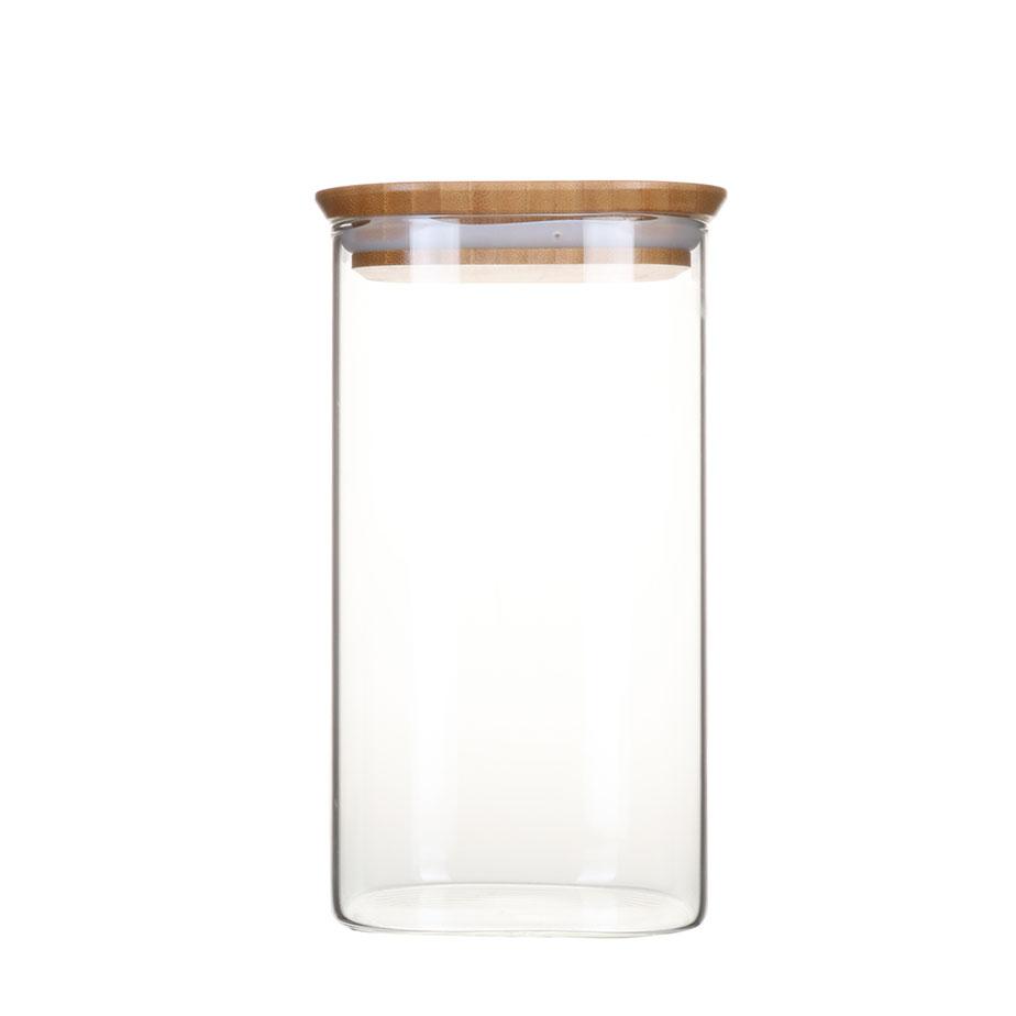 צנצנת זכוכית דקה BAMBOO M