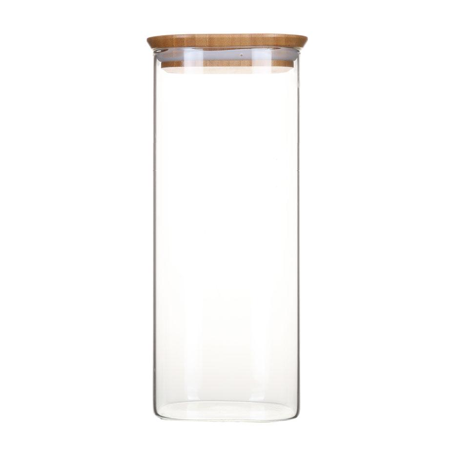 צנצנת זכוכית דקה BAMBOO L