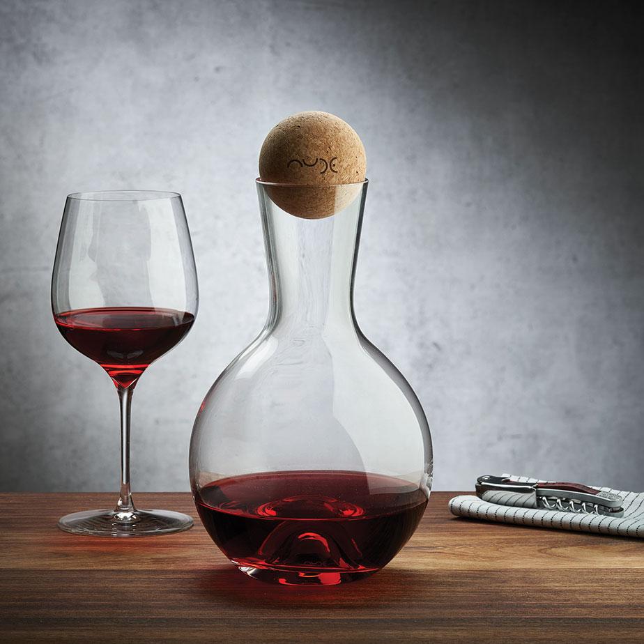 סט דיקנטר + 2 כוסות יין  VINTAGE